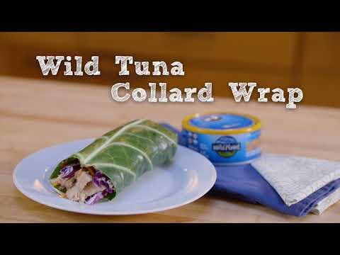 Wild Tuna Collard Wrap Recipe with Wild Planet Foods and Dean Karnazes