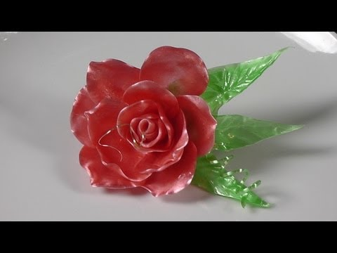 How to Pull Flowers With Pull Sugar - Pull Sugar Rose - How to Cook and Make Pulled Sugar Part 5