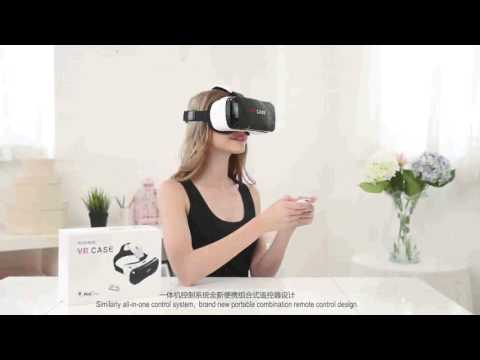 Own patent Lcose vr case 6th Virtual Reality Headset with remote 3d glasses vr