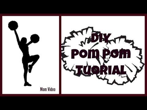 DIY Cheerleader Pom-Poms !