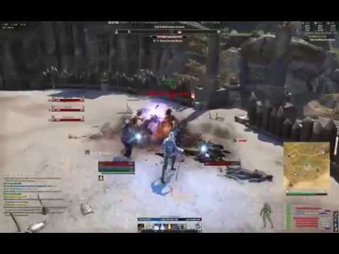 ESO Craglorn - the Arena - School of Blades - 3 man team, no tank ! Sorcerer POV