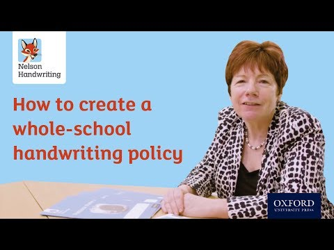 How to create a whole-school handwriting policy