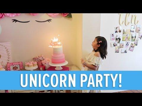 UNICORN BIRTHDAY PARTY! 🦄