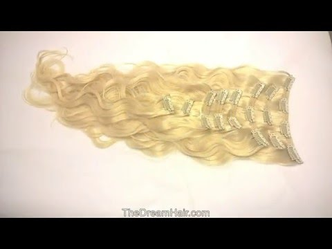 Set of 8 Pieces Double Weft Clip in Hair Extensions