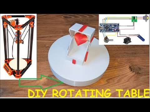DIY 360 Degree Showcase Rotating Turn Table Jewelry Display Stand Power By Battery
