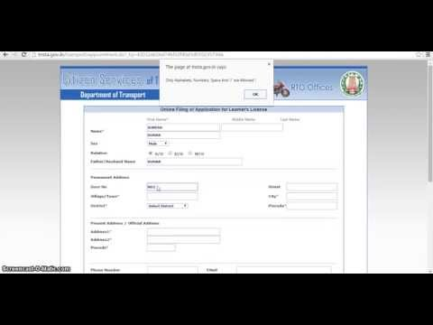 How to apply Learner License - LLR online in Chennai