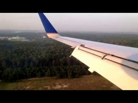 Landing in Houston George Bush international Airport