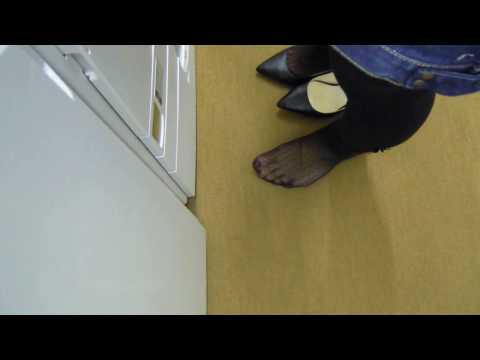 Sweaty Foot print on the carpet