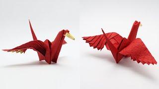 Origami Feathered Crane (jo Nakashima)