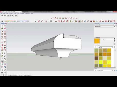 Sketch Up How To Make Rounded And Chamfer Edge Turorial