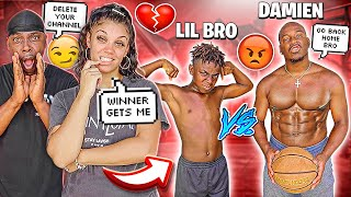 1 VS 1 AGAINST MY 12 YEAR OLD BROTHER DARION THE REMATCH GAME 💔😭 **IT