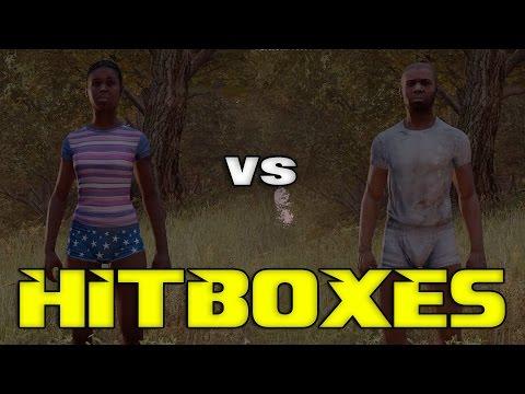 Hitboxes in DayZ | Male Vs Female