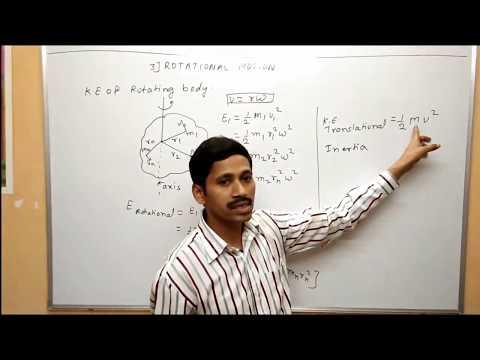 Rotational Motion Kinetic Energy of rotating body Maharashtra Board Physics
