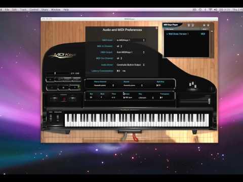 MIDIKeyz Keyboard and Piano Instructional Software Demo Tutorial - Playing External Sounds