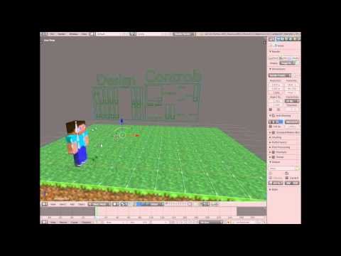 How to make a minecraft animation (easy) using blender