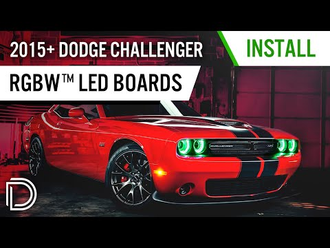 How to Install 2015+ Dodge Challenger RGBW™ DRL LED Boards by Diode Dynamics