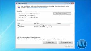 Windows 7 Defrag Your Hard Drive Disk For Best Performance