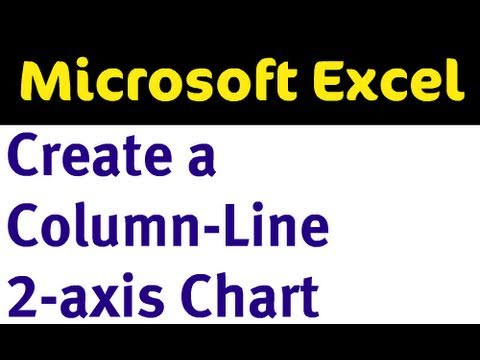 Column-Line 2-Axis Chart in Excel 2007