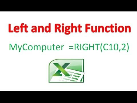 How to use Left and Right Function In Excel