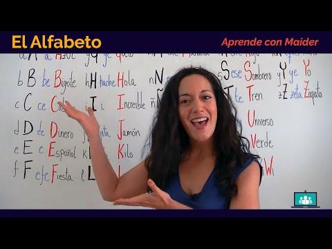 Free Spanish Lessons with Maider - The Alphabet (El Alfabeto) 01