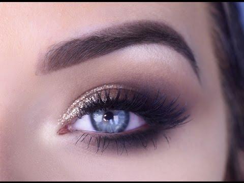 EASY Prom Eye Makeup Tutorial | Bronze Glitter Smokey Eye