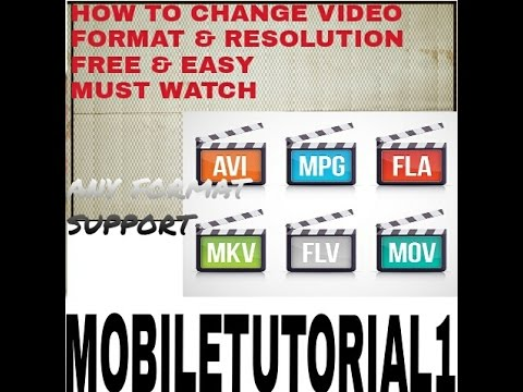 HOW TO CHANGE VIDEO FORMAT IN ANDROID. VIDEO FORMAT NOT SUPPORTED FIX ISSUE IN ANDROID