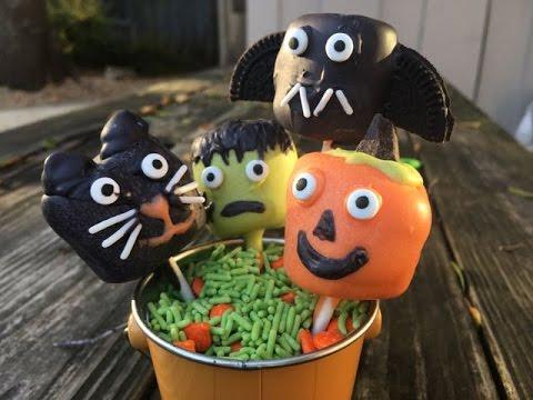 Spookily Delicious Halloween Marshmallow Pops