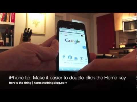 iPhone tip: Make it easier to double-click the Home key