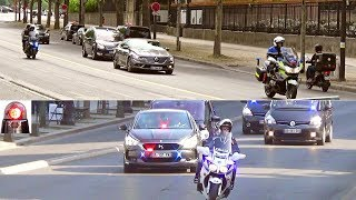 Compilation Police Motorcycle Escorts Presidential Motorcades Unmarked Cars
