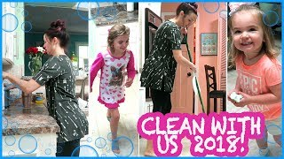 ALL DAY Clean with us 2018! | DEEP CLEAN + ORGANIZE!