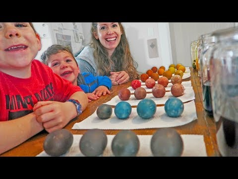 Naturally dyeing our COLORFUL egg basket
