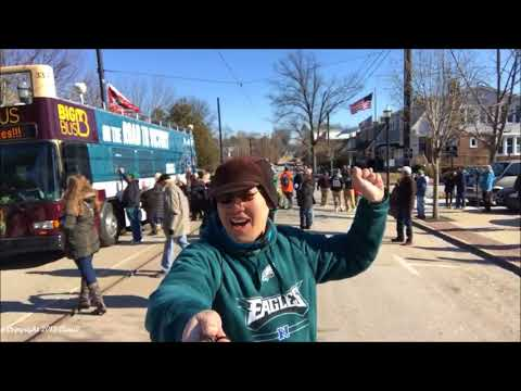 Brief Eagles Fight Song Chant, before Eagles Pride Parade Start 2-3-2018