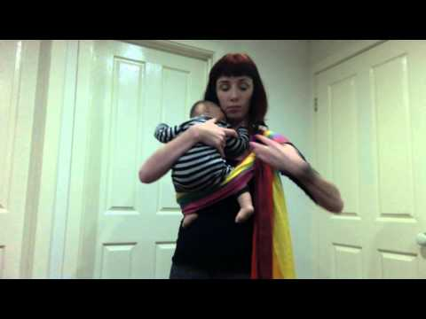 How to thread and use a ring sling (silent) with a baby (keepcalmandcarrythem)