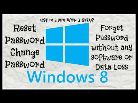 How to Unlock|Open Windows8/8.1 if you Forget Password |Change|Reset|Hack|