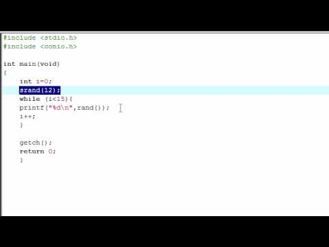 C Programming Tutorial - 13 - Seeding Random Numbers