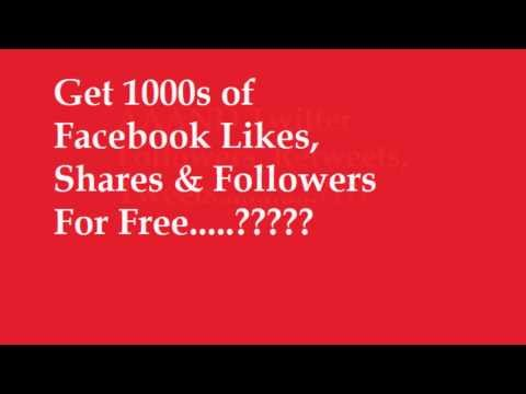 How to Get 1000's of Facebook Likes, Shares & Twitter Followers And etc for FREE