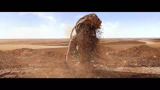 SandGirl - SandMan -Sand particle test in Cinema 4D - Dust Simulation - CGI sand simulation