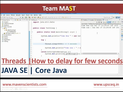 How can I delay a Java program for a few seconds ? | Team MAST