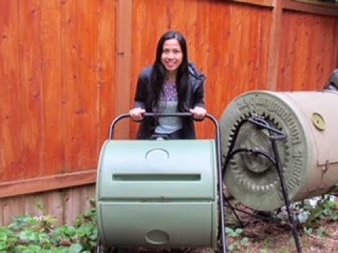 How to Make Compost at Home With A Compost Tumbler