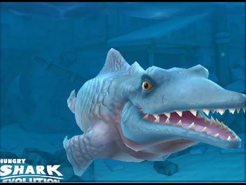 Hungry Shark Evolution Mr Snappy (Mosasaurus) Gameplay New Prehistoric predator 2015