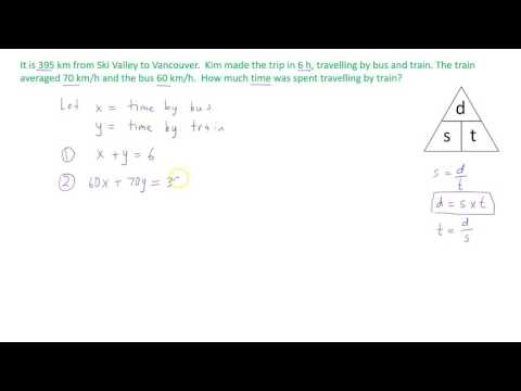 Solving a system of linear equations that involve speed, distance and time