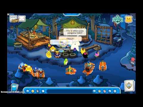 Club Penguin Meeting Herbert/Visiting Herbert's igloo November 2013 (Operation Puffle)