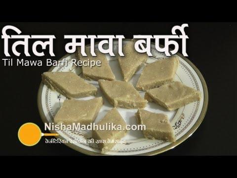 Til Mawa Burfi Recipe -  Til Khoya Barfi Recipe