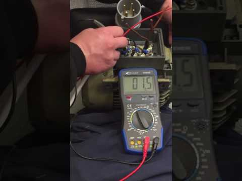 Motor windings resistance test
