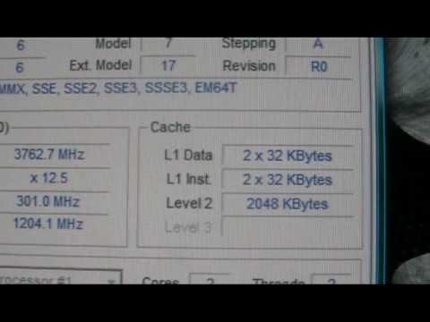 Overclocked intel pentium dual core E5200 @ 3.7 gig