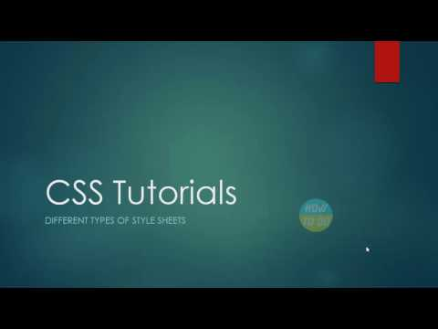 CSS Tutorials   Different Types of Style Sheets