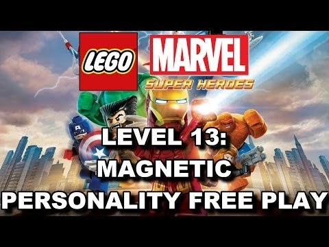 LEGO Marvel Super Heroes: Level 13 Magnetic Personality FREE PLAY (All Minikits & Stan Lee in Peril)