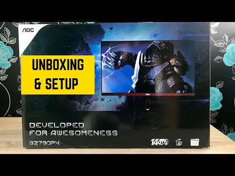 AOC G2790PX Gaming Monitor Unboxing and Setup
