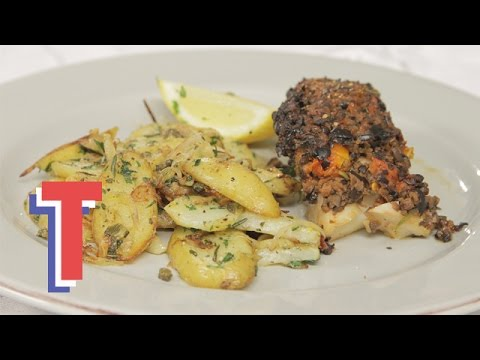 Cod With Olive Tapenade With Rosemary Potatoes | Feed My Friends 3