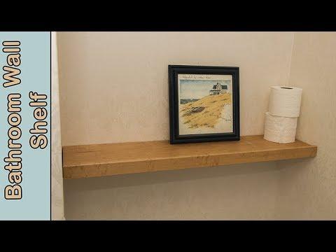 Build a Bathroom Wall Shelf